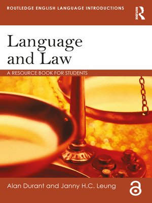 cover image of Language and Law