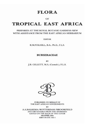 cover image of Flora of Tropical East Africa