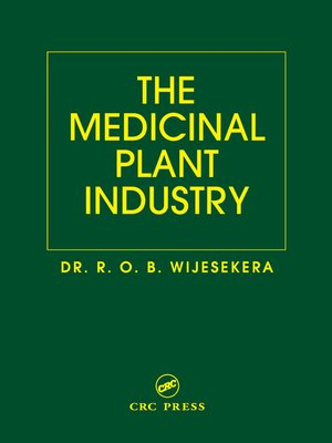 cover image of The Medicinal Plant Industry