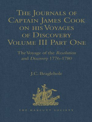 cover image of The Journals of Captain James Cook on his Voyages of Discovery
