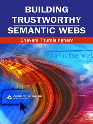 cover image of Building Trustworthy Semantic Webs