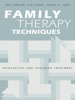 cover image of Family Therapy Techniques