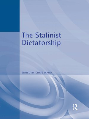 cover image of The Stalinist Dictatorship