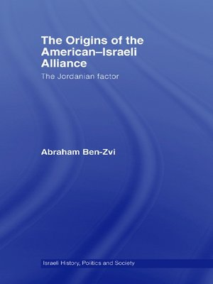 cover image of The Origins of the American-Israeli Alliance