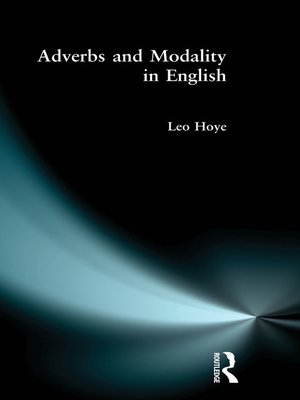 cover image of Adverbs and Modality in English