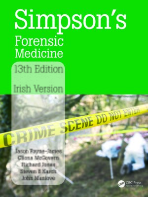cover image of Simpson's Forensic Medicine