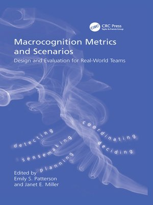 cover image of Macrocognition Metrics and Scenarios