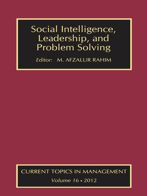 cover image of Social Intelligence, Leadership, and Problem Solving