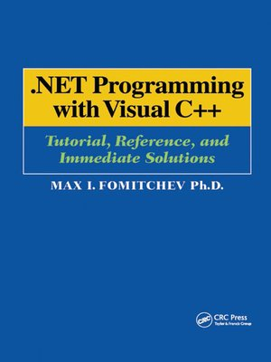 cover image of .NET Programming with Visual C++
