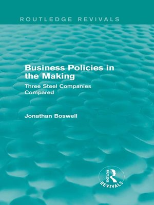 cover image of Business Policies in the Making (Routledge Revivals)