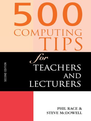 cover image of 500 Computing Tips for Teachers and Lecturers