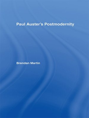 cover image of Paul Auster's Postmodernity