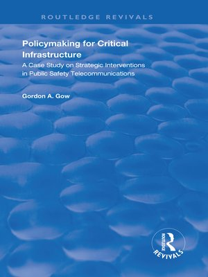cover image of Policymaking for Critical Infrastructure