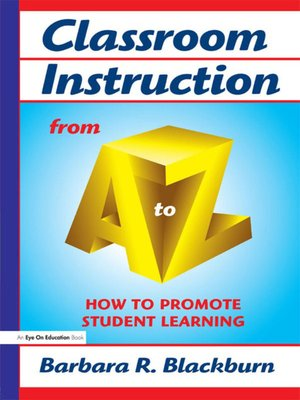 cover image of Classroom Instruction from a to Z