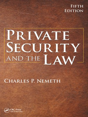 cover image of Private Security and the Law