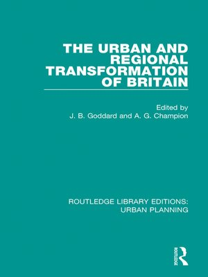 cover image of The Urban and Regional Transformation of Britain