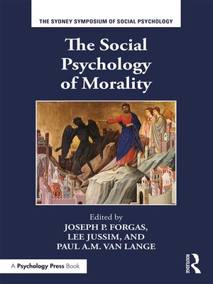 cover image of The Social Psychology of Morality