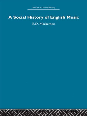 cover image of A Social History of English Music