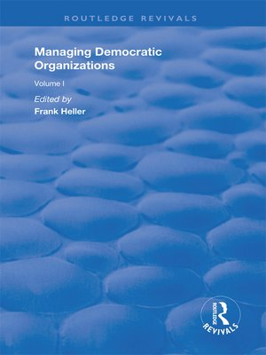 cover image of Managing Democratic Organizations I
