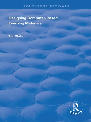 cover image of Designing Computer-Based Learning Materials