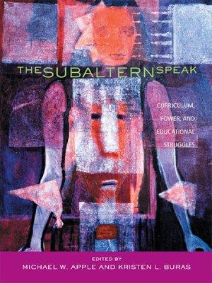 cover image of The Subaltern Speak