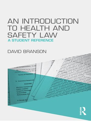 cover image of An Introduction to Health and Safety Law