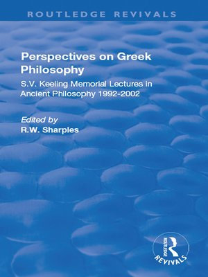 cover image of Perspectives on Greek Philosophy