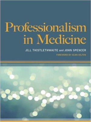 cover image of Professionalism in Medicine