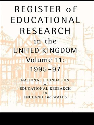 cover image of Register of Educational Research in the United Kingdom
