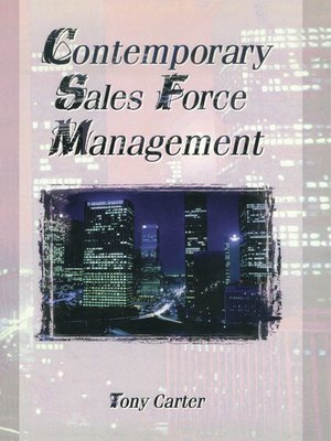 cover image of Contemporary Sales Force Management
