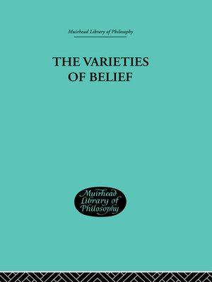 cover image of Varieties of Belief