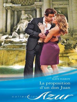 cover image of La proposition d'un don Juan