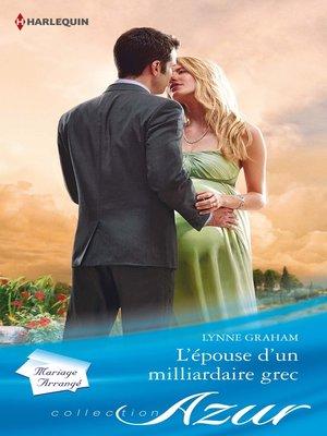 cover image of L'épouse d'un milliardaire grec