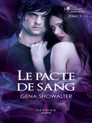 cover image of Le pacte de sang