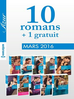 cover image of 10 romans Azur + 1 gratuit (nº3685 à 3694)