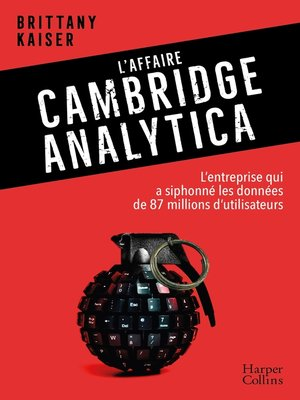 cover image of L'affaire Cambridge Analytica