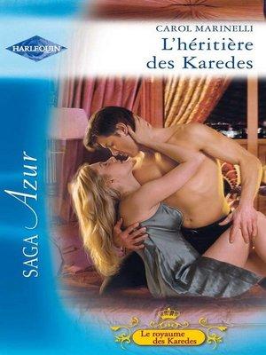 cover image of L'héritière des Karedes