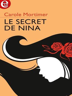 cover image of Le secret de Nina