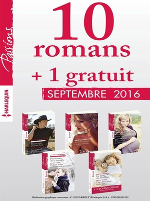cover image of 10 romans Passions + 1 gratuit (n°615 à 619--Septembre 2016)