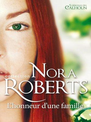 cover image of L'honneur d'une famille