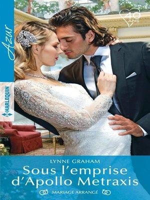 cover image of Sous l'emprise d'Apollo Metraxis