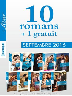 cover image of 10 romans Azur + 1 gratuit (n°3745 à 3754--Septembre 2016)
