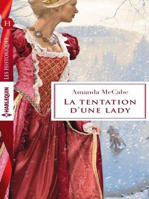 cover image of La tentation d'une lady