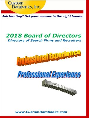 cover image of 2018 Board of Directors Directory of Search Firms and Recruiters
