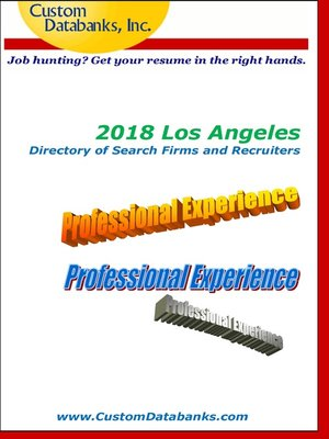 cover image of 2018 Los Angeles Directory of Search Firms and Recruiters