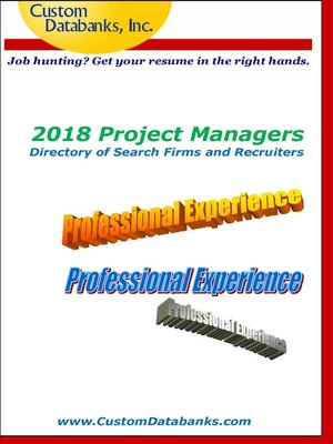 cover image of 2018 Project Managers Directory of Search Firms and Recruiters