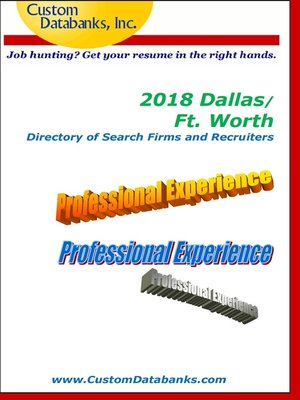 cover image of 2018 Dallas/Ft. Worth Directory of Search Firms and Recruiters