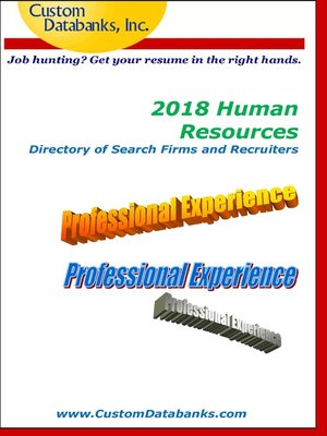 cover image of 2018 Human Resources Directory of Search Firms and Recruiters