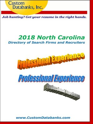 cover image of 2018 North Carolina Directory of Search Firms and Recruiters