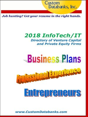 cover image of 2018 InfoTech/IT Directory of Venture Capital and Private Equity Firms